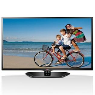 "Televisor LG 55"" LED HDTV con soporte de TV"