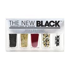 Conjunto de esmaltes y accesorios para uñas The New Black Rock' N 'Roll Royalty de 5 piezas