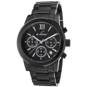 Reloj cronógrafo A_Line Sophi Chic de acero negro