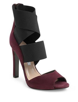 Zapatillas Juliesa Elastic Strap Heel in suede/ black elastic