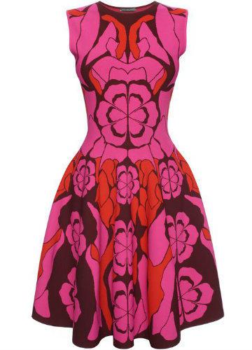 Vestido de Flores Alexander McQueen