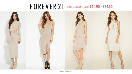 bd1220596cc Forever21 Simply Nude Dress Sale - 2locos