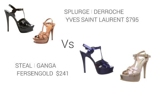 87ba23bb8679 Yves Saint Laurent   Fersengold Sandals - 2locos