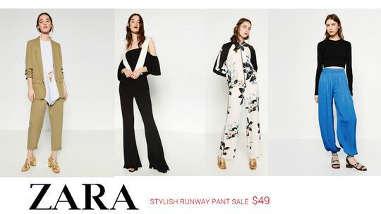 fa9a3f9c Zara Sale On Trendy Flowing Pants - 2locos