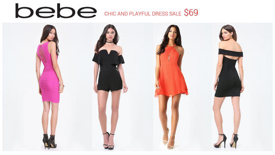 bebe dresses on sale