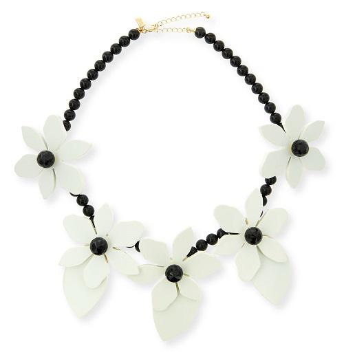 Kate Spade New York Lovely Lilies Statement Necklace