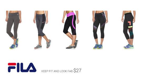 b288d60110abd Women's FILA SPORT® Rainbow Blast Capri Workout Leggings