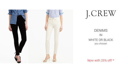 Black or White Jeans - 25% Off with code