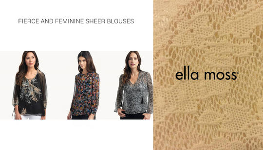 Sheer Flower-Print Tops - from $84