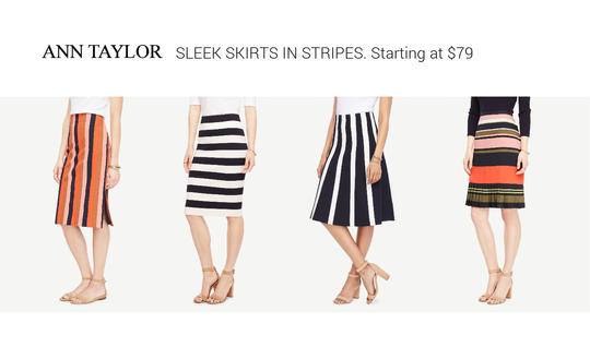 ANN TAYLOR Knee-length Skirts - from $79