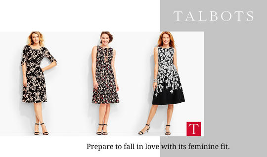 Talbots Floral Print Dresses for Day or Evening - $109