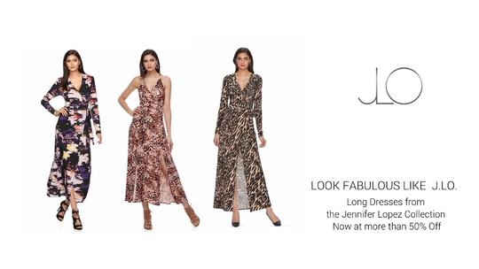J.LO. Long Sleeve Maxi Dresses on Sale. From $23!