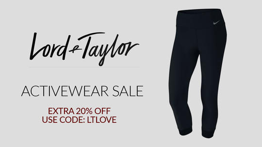 LORD & TAYLOR Up To 40% OFF Activewear Use Code LTLOVE