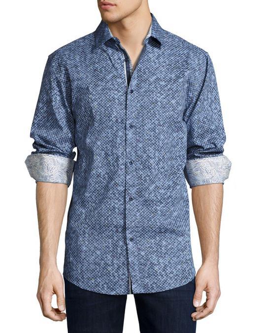 ENGLISH LAUNDRY Men's Modern-Fit Print Shirts - 2locos